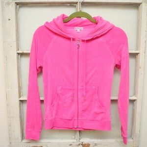 Juicy Couture Jackets & Coats - Juicy Couture Hot Pink TrackSuit Jacket TerryCloth